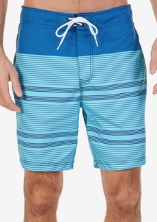"Nautica Men's Quick Dry Engineered-Stripe 8"" Swim Trunks"
