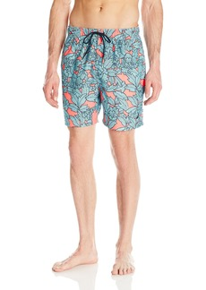 Nautica Men's Quick Dry Floral Print Swim Trunk