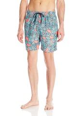 Nautica Men's Quick Dry Floral Print Swim Trunk