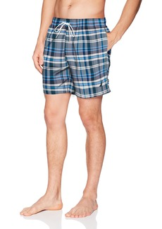 Nautica Men's Quick Dry Full Elastic Waist Signature Print Swim Trunk