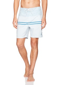 Nautica Men's Quick Dry Full Elastic Waist Striped Swim Trunk