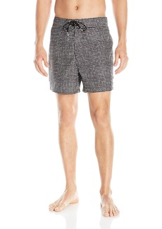 Nautica Men's Quick Dry Painterly Dot Swim Trunk  arge