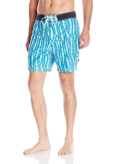 Nautica Men's Quick Dry Pieced Floral Print Swim Trunk