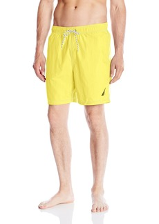 Nautica Men's Quick Dry Solid Swim Trunk