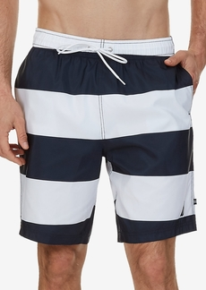 """Nautica Men's Quick-Dry Striped 8"""" Board Shorts"""