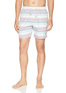 Nautica Men's Quick Dry Striped Swim Trunk