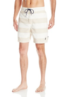 Nautica Men's Quick Dry Striped Swim Trunk  XXL