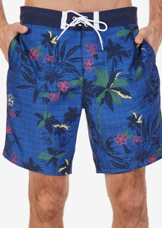 "Nautica Men's Quick-Dry Tropical-Print 8"" Swim Trunks"