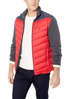 Nautica Men's Quilted Hybrid Nylon Parka Jacket