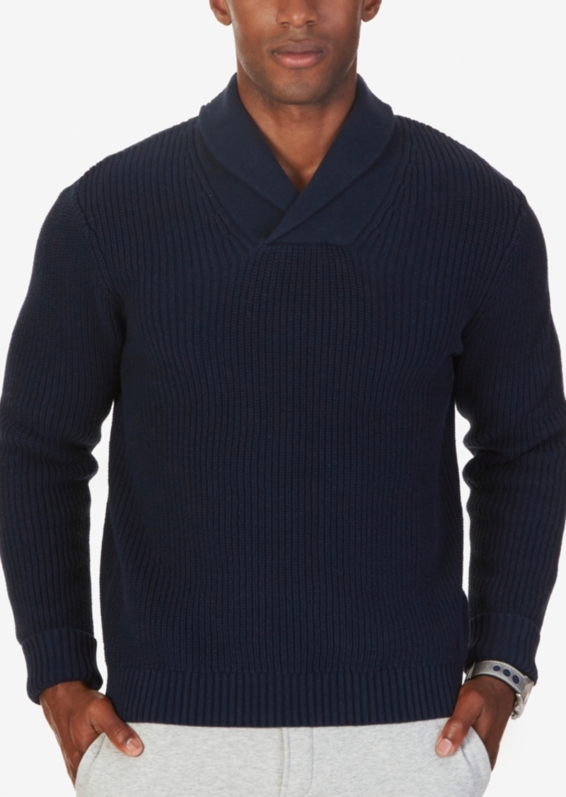 Nautica Nautica Men's Ribbed Shawl-Collar Sweater | Sweaters ...