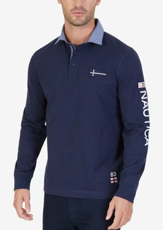Nautica Men's Rugby Long Sleeve Polo