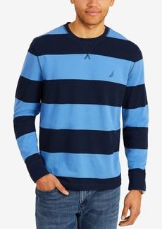 Nautica Men's Big & Tall Long Sleeve Thick Stripe Shirt