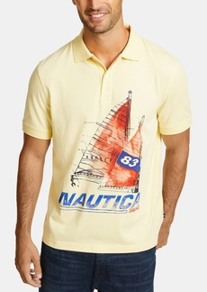 Nautica Men's Sailboat Graphic Polo