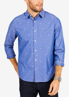 Nautica Men's Sailboat Print Classic Fit Shirt