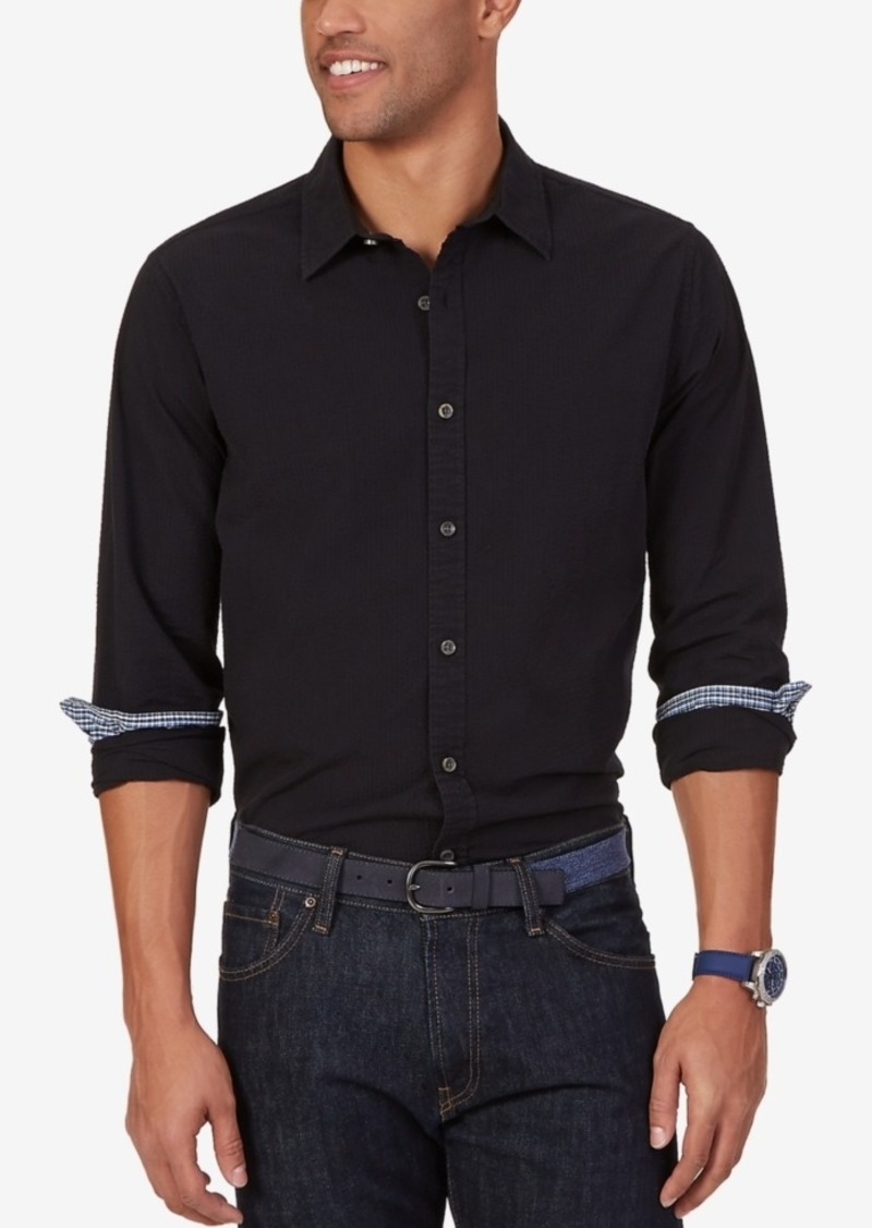 Nautica Men's Seersucker Long-Sleeve Shirt