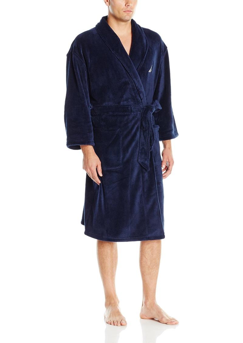 Nautica Men's Shawl Collar Plush Robe
