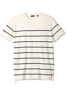 Nautica Men's Short Sleeve Bretton Stripe Crew Neck Shirt