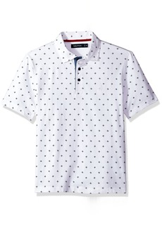 Nautica Men's Short Sleeve Classic Fit Printed Polo Shirt