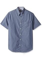 Nautica Men's Short Sleeve Classic Fit Wrinkle Resistant Button Down Shirt