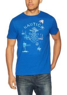 Nautica Men's Short Sleeve Crew Neck Cotton Tshirt