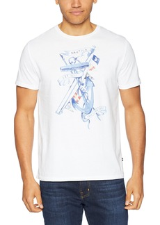Nautica Men's Short Sleeve Crew Neck Cotton T-Shirt