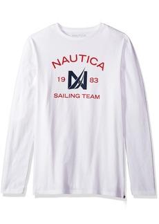 Nautica Men's Short Sleeve Crew Neck Cotton T-Shirt Bright White v