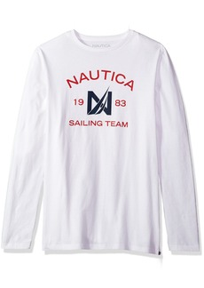 Nautica Men's Short Sleeve Crew Neck Cotton T-Shirt Bright White v
