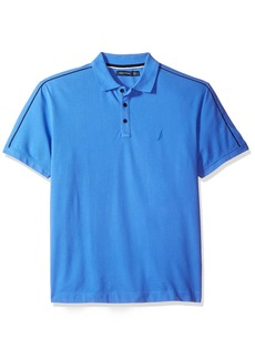 Nautica Men's Short Sleeve Shoulder Stripe Polo Shirt