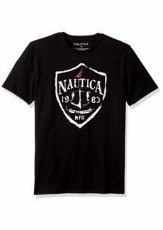 Nautica Men's Short Sleeve Signature Graphic Crewneck T-Shirt