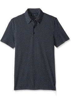 Nautica Men's Short Sleeve Slim Fit Printed Polo Shirt True Navy-K72107