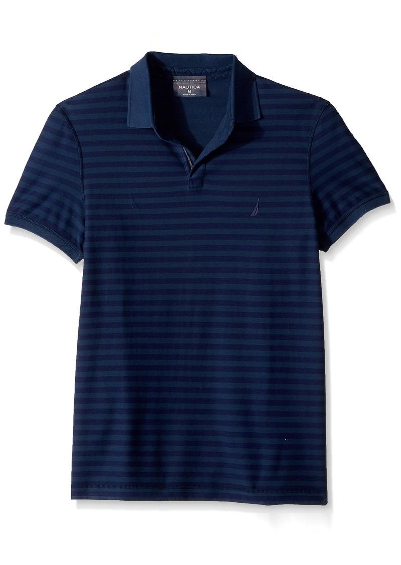 Nautica Nautica Mens Short Sleeve Slim Fit Reversible Polo Shirt