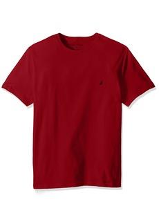 Nautica Men's Short Sleeve Solid Crew Neck T-Shirt Red