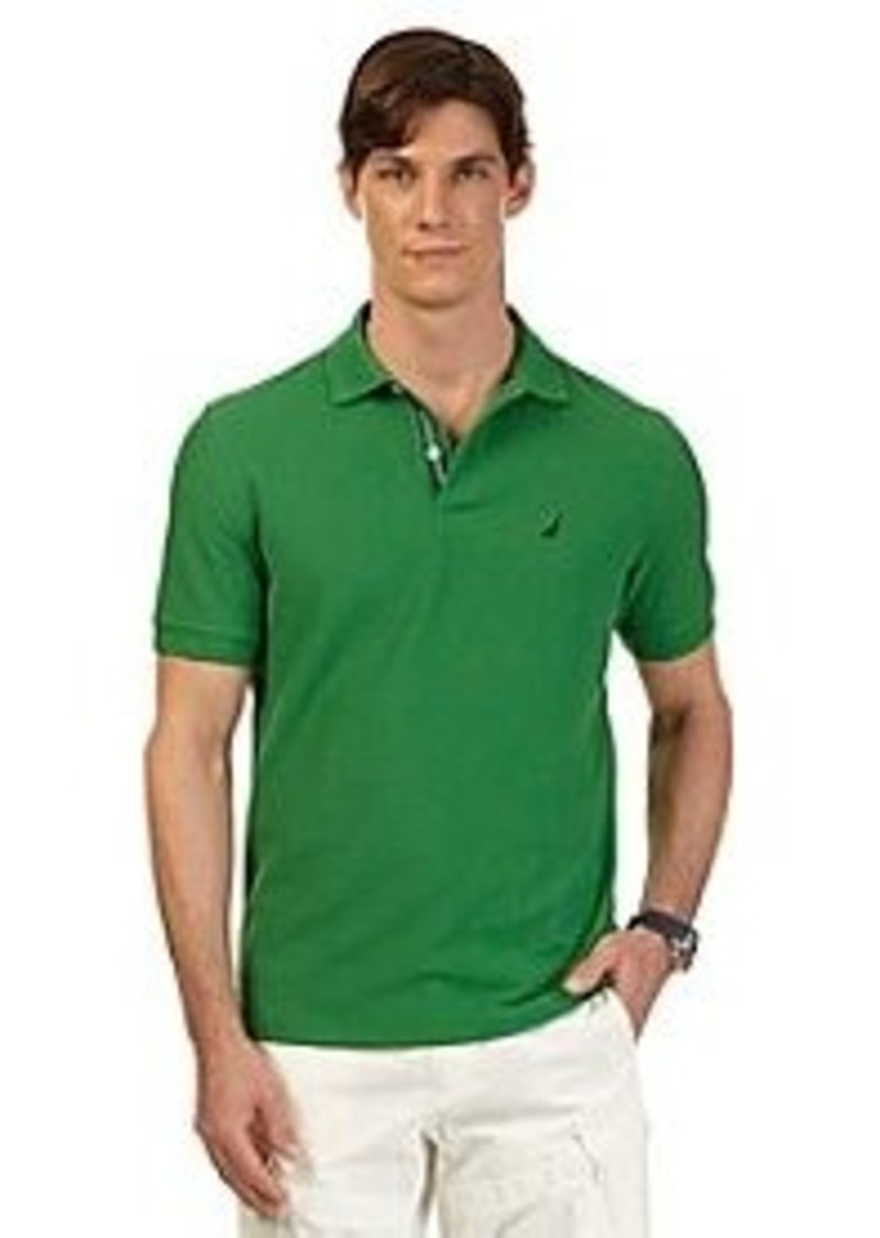 Nautica nautica men 39 s short sleeve solid deck polo for Nautica shirts on sale