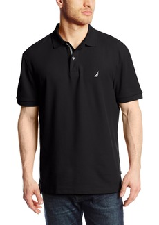 Nautica Men's Short Sleeve Solid Deck Polo Shirt  Small