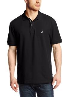 Nautica Men's Short Sleeve Solid Deck Polo Shirt  Medium