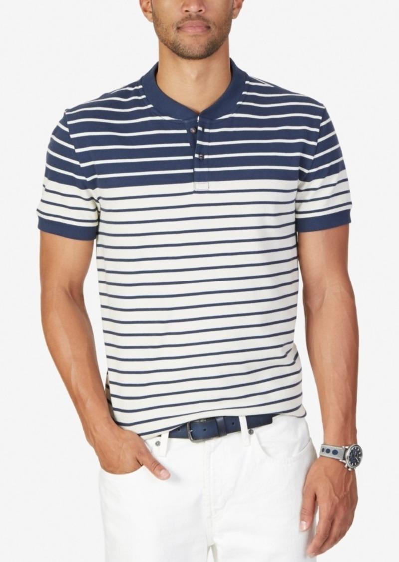 Nautica Men's Slim-Fit Colorblocked Striped Henley