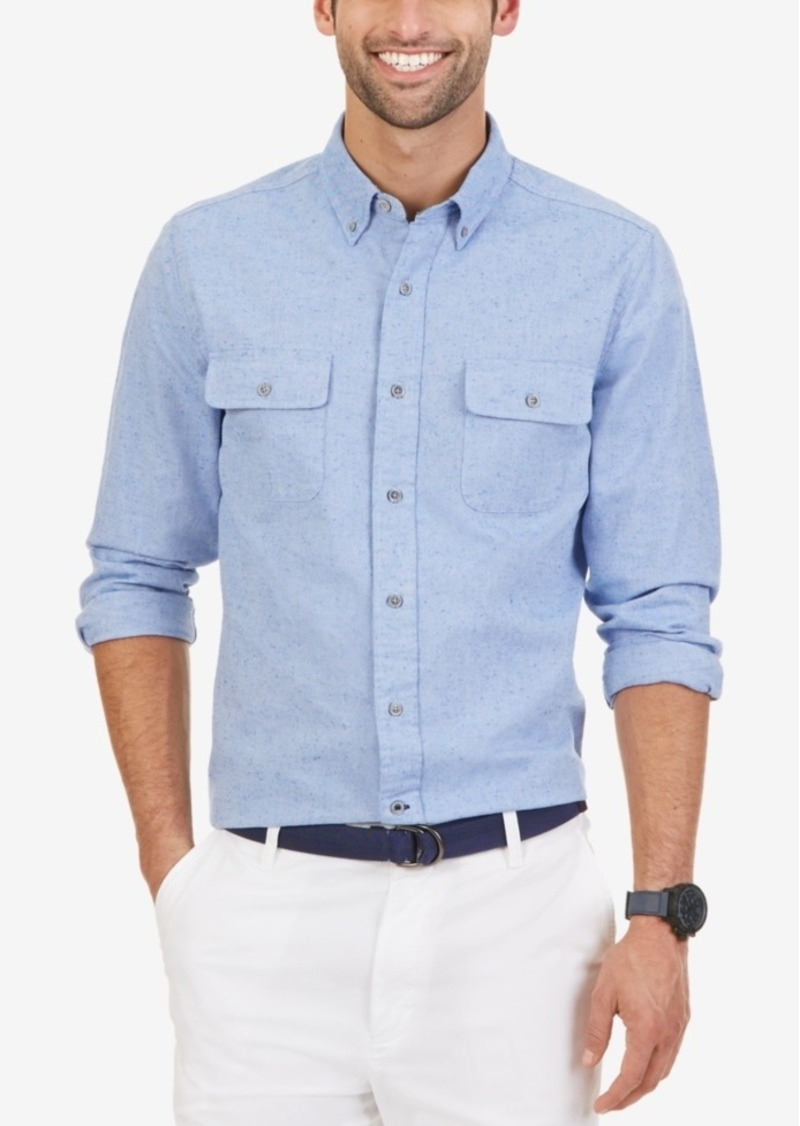 Nautica Men's Slim Fit Double Pocket Oxford Shirt
