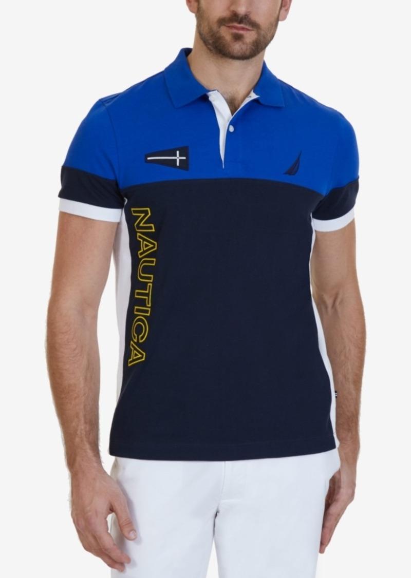 4ae883f2 Nautica Nautica Men's Slim-Fit Heritage Logo Colorblock Polo ...