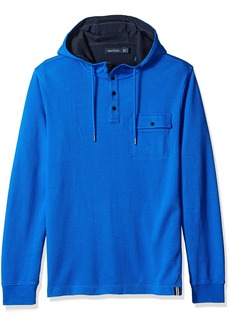 Nautica Men's Slim Fit Hooded Henley Shirt  S