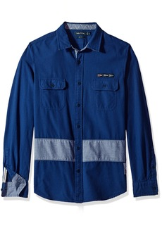 Nautica Men's Slim Fit Long Sleeve Heritage Button Down Shirt