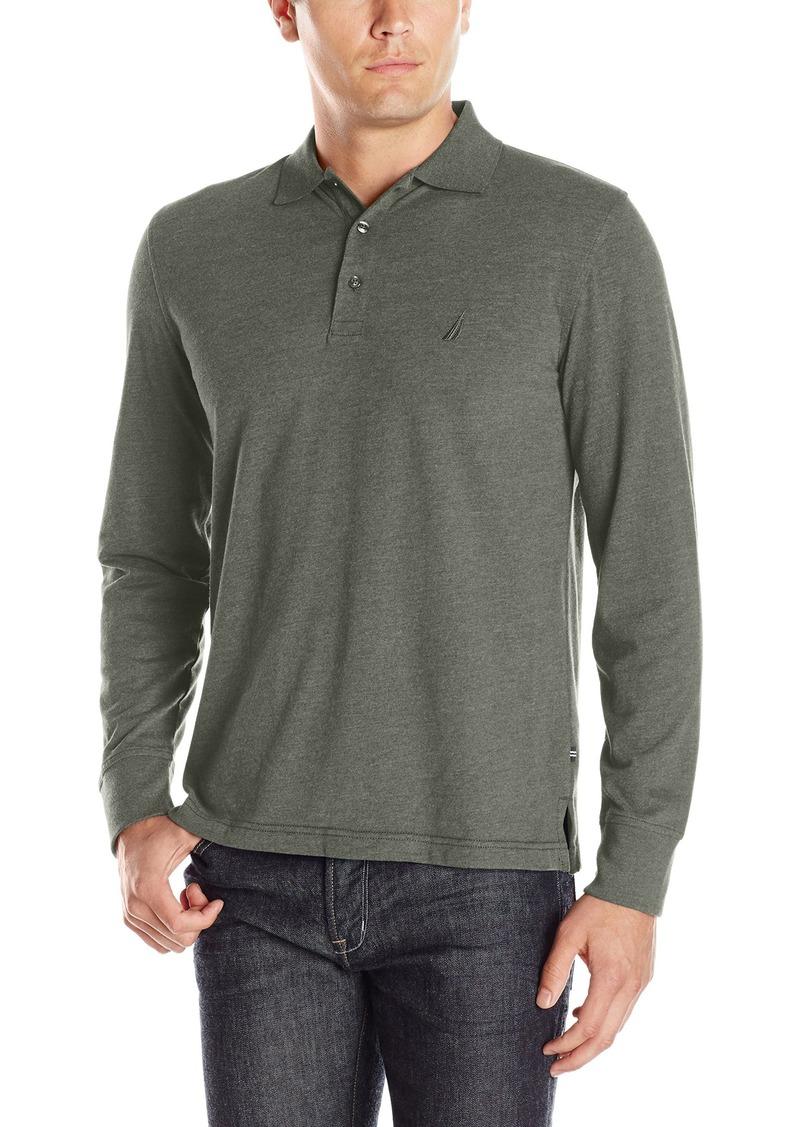 On Sale Today Nautica Nautica Mens Slim Fit Long Sleeve Polo Shirt