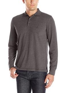 Nautica Men's Slim Fit Long Sleeve Polo Shirt