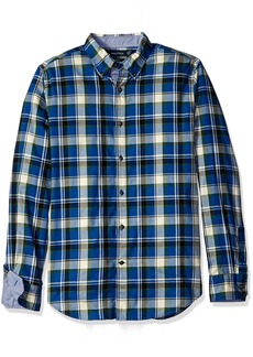 Nautica Men's Slim Fit Pacific Plaid Long Sleeve Shirt  L