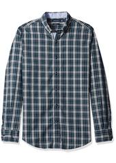 Nautica Men's Slim Fit Plaid Shirt  XL