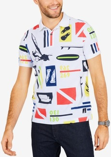 Nautica Men's Slim-Fit Scuba-Print Performance Polo