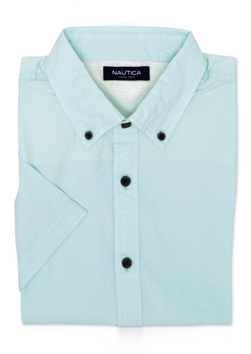 Nautica Men's Slim-Fit Seersucker Short-Sleeve Shirt