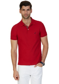 Nautica Men's Slim Fit Short Sleeve Solid Polo Shirt Red