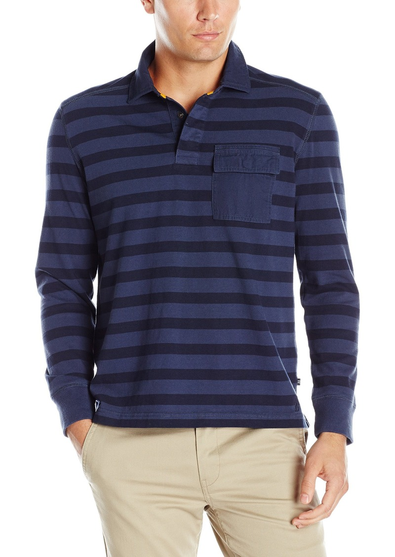 Nautica nautica men 39 s slim fit striped long sleeve polo for Long sleeve fitted polo shirts