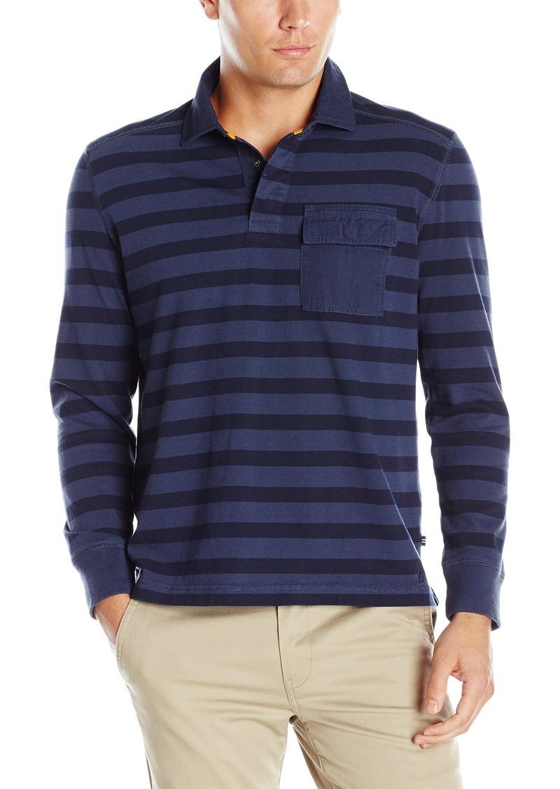 Nautica nautica men 39 s slim fit striped long sleeve polo for Men s lightweight long sleeve polo shirts