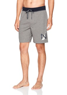 Nautica Men's Soft Cotton Knit Sleep Pajama Lounge Shorts Grey HTHTR